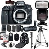 Canon EOS 6D Mark II DSLR Body - With Canon BG-E21 Battery Grip + Professional Accessory Bundle (14 items)