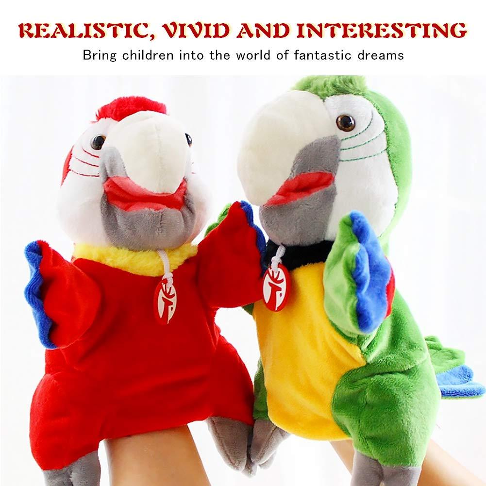 Romote 2 Pc-tierhandpuppen Karikatur-papagei Pl/üschpuppe Spielzeug Kinder P/ädagogisches Spielzeug Storytelling Puppets Handschuhe Baby-Spielzeug Baby-Geschenke