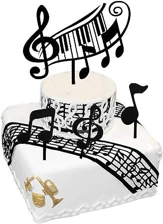 Amazon.com: Adornos para tartas musicales, artículos de ...