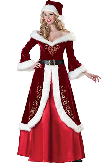 Cuteshower Women's Deluxe Costume Mrs. Claus Clothing Cosplay Suit For  Christmas Medium - Amazon.com: Cuteshower Women's Deluxe Costume Mrs. Claus Clothing