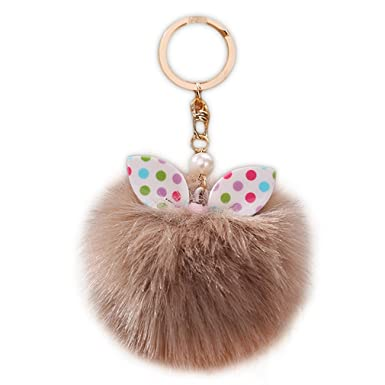 Amazon.com: youngate Mini Cute Lazo Fluffy sintética de ...