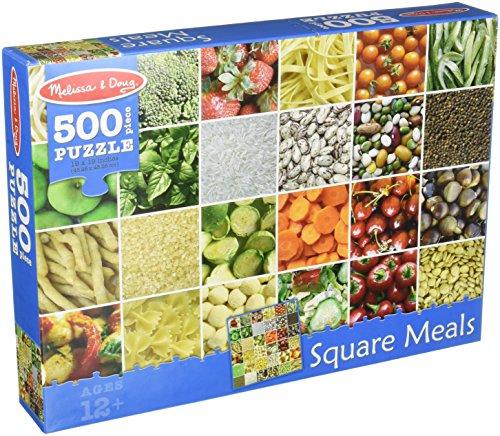 Melissa Doug 500 Piece Square Healthy
