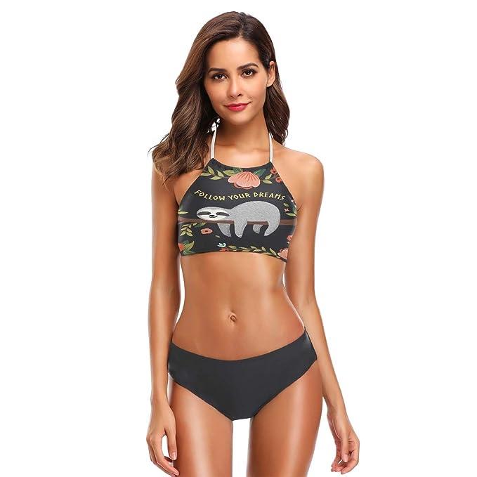 Amazon.com: ZZKKO - Bañador para mujer, cuello alto, traje ...