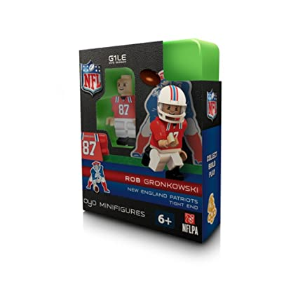 Image Unavailable. Image not available for. Color  OYO Football NFL  Building Brick Minifigure Throwback Jersey Rob Gronkowski  New England  Patriots  ad1091b90
