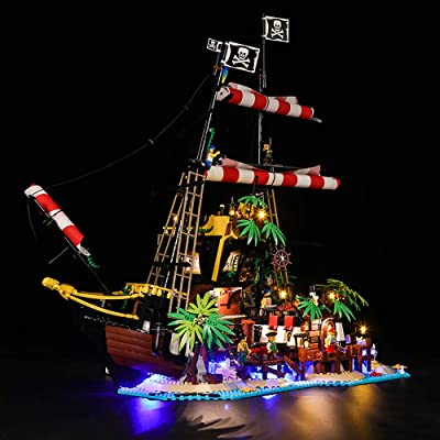 Vonado Led Lighting Kit for Lego 21322 Pirates of Barracuda Bay Ideas Series Lighting Group Toys Indoor Adult(Lights Only): Toys & Games