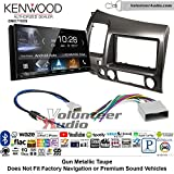 Kenwood DMX7705S Double Din Radio Install Kit with Apple CarPlay Android Auto Bluetooth Fits 2006-2011 Honda Civic (Earth Taupe Brown)