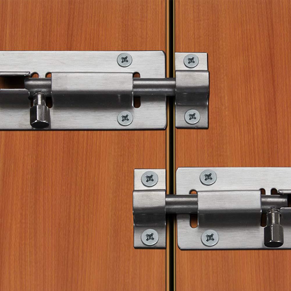 3 pulgadas ventana puerta de mascotas muebles inodoro Cerrojo de seguridad deslizante para puerta de ba/ño