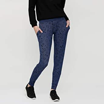 Smiley World Slim Fit Trousers, for Women Blue - 6292354959965