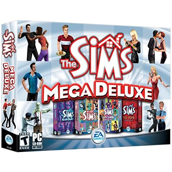 Amazon Com The Sims Mega Deluxe The Sims House Party Livin Large Hot Date Video Games