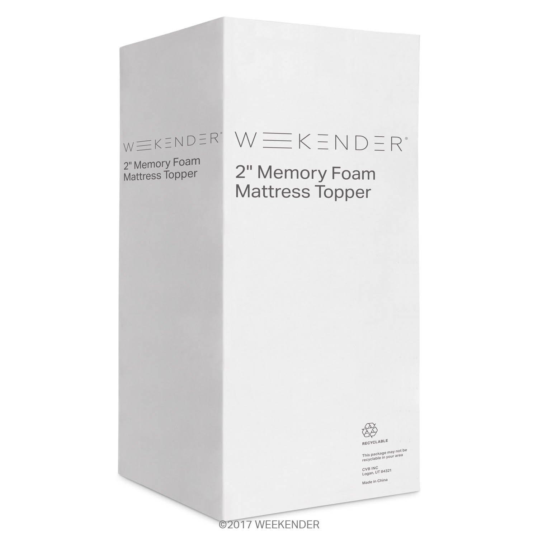 Amazon.com: WEEKENDER 2 Inch Memory Foam Mattress Topper - Twin: Kitchen &  Dining