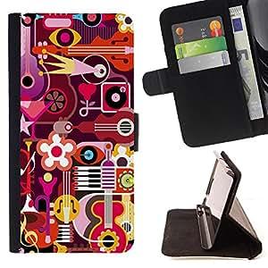 King Case - FOR LG Nexus 5 D820 D821 - To find and search - Prima caja de la PU billetera de cuero con ranuras para tarjetas, efectivo Compartimiento desmontable y correa para la mu?eca