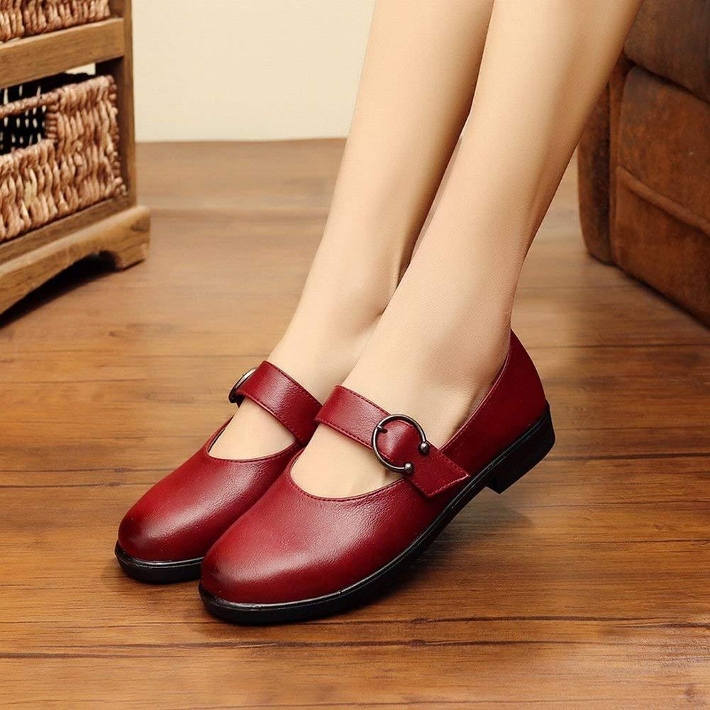 Oudan Mamas Schuhe Arbeit Schuhe Low-Heels Hotel Schuhe Damenschuhe Peas  Schuhe (Farbe  Peas  Braun Größe   35) e640d0