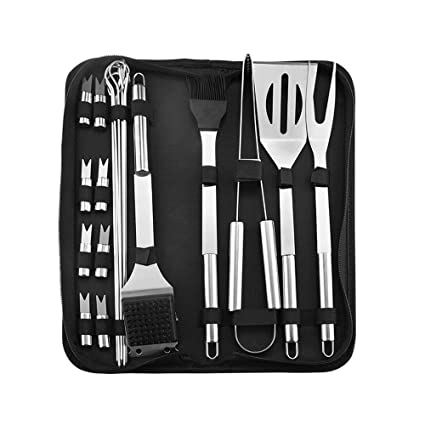 Amazon.com: LUCKSTAR Juego de herramientas para barbacoa de ...