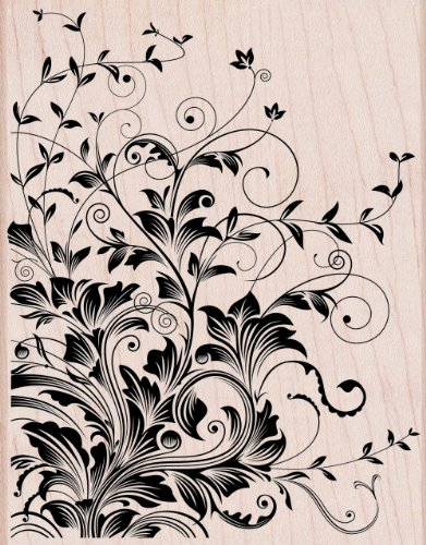 Hero Arts Leafy Vines Woodblock Decorative ()
