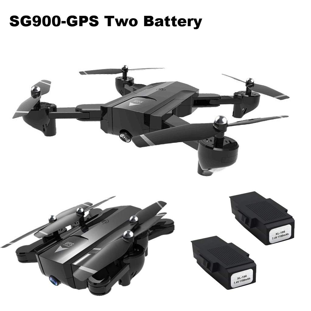 Bescita SG900 Drone Faltbares Quadcopter   2.4GHz Volles HD Kamera 720P / 1080P Wifi FPV GPS Drone   2 Pcs 7.4V 1100mAh Lipo Batteri (720P)