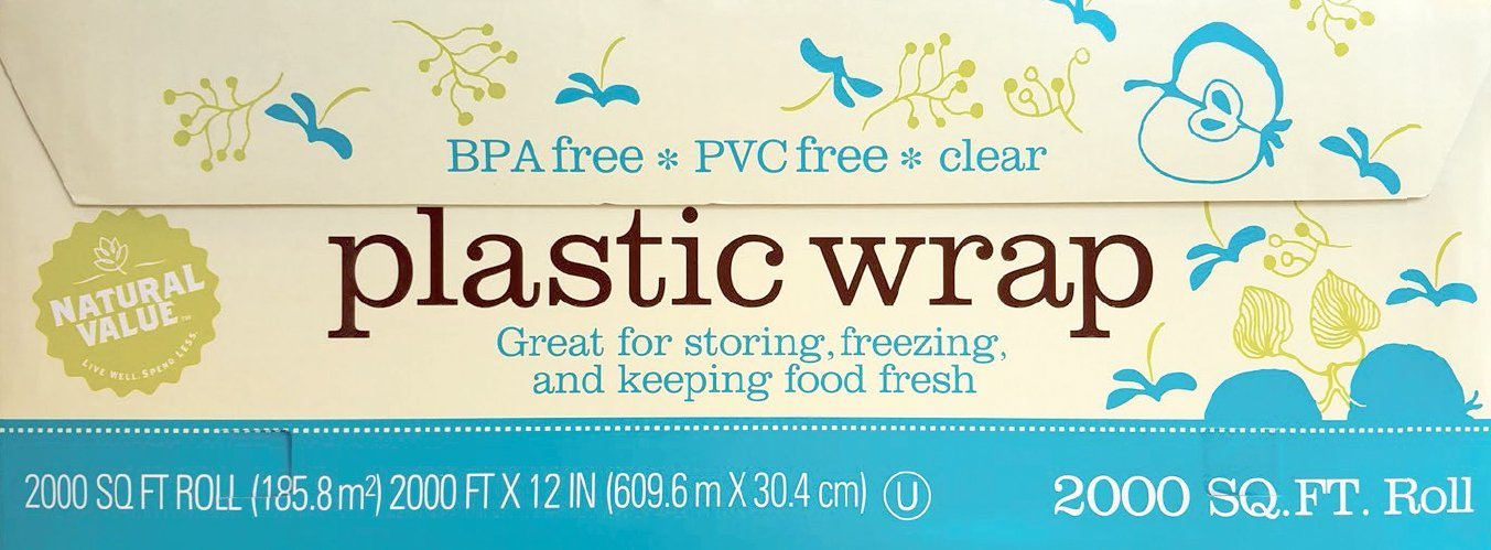 Natural Value Clear Plastic Wrap / 2,000 sq. ft. roll