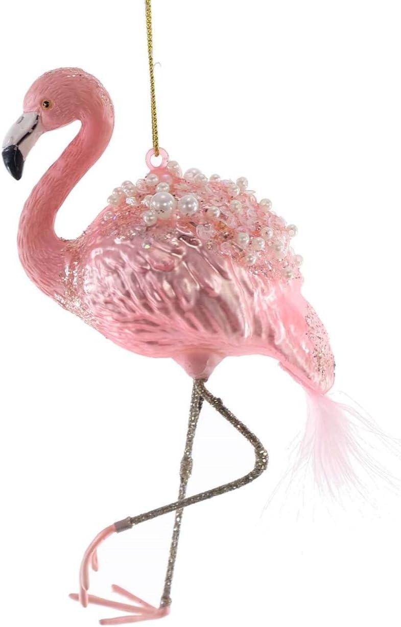 Katherine/'s Collection Glass Jeweled Flamboyant Flamingo Christmas Ornament
