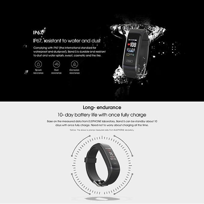 lennonsi Smart pulsera reloj Fitness Tracker Pulsera de Actividad ...