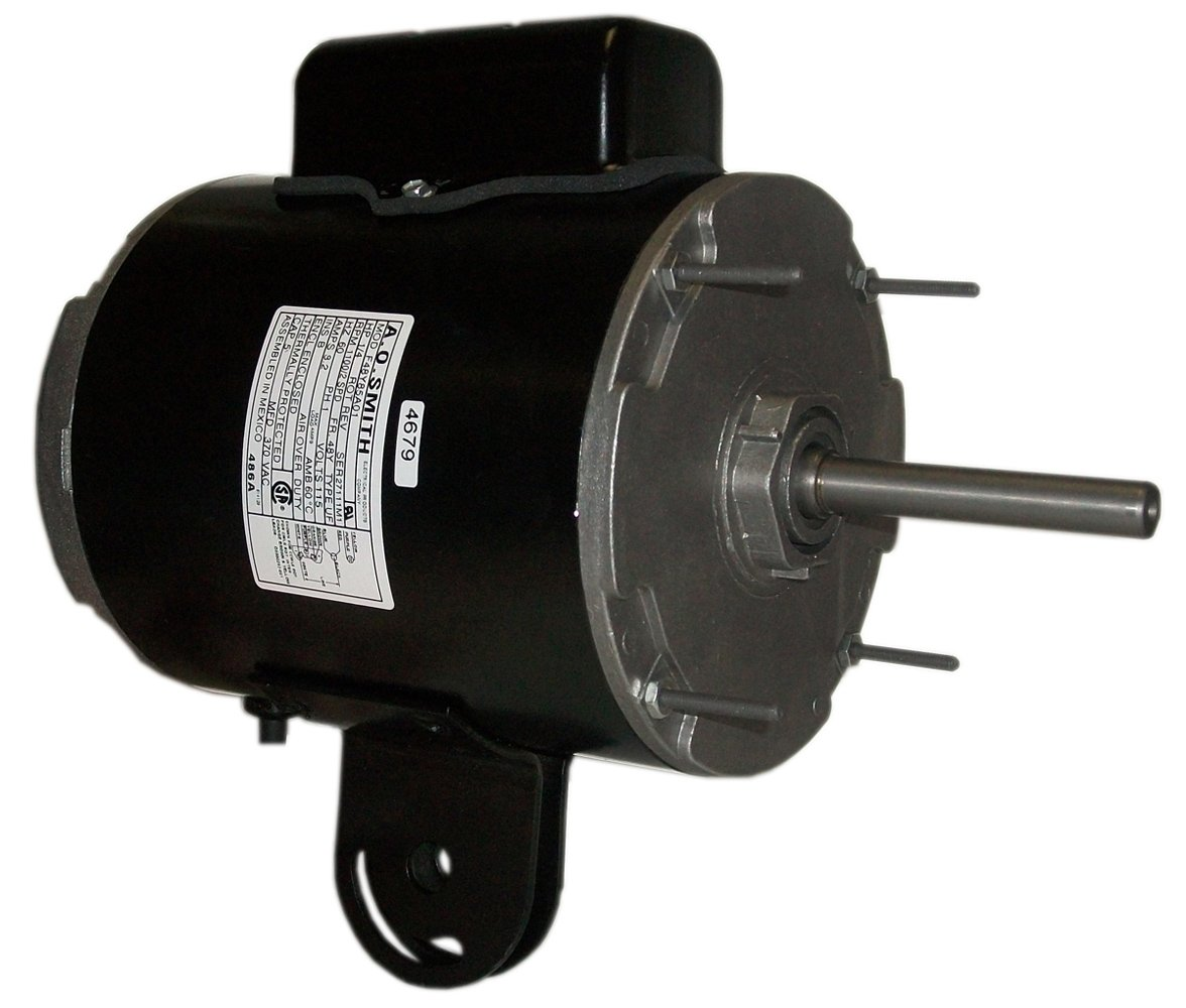 A.O. Smith 486A 1/4 HP, 1100 RPM, 2 Speed, 115 Volts, 48Y Frame, TEAO Enclosure, Ball Bearing, CCWLE Rotation Yoke Mount Pedestal Fan Motor