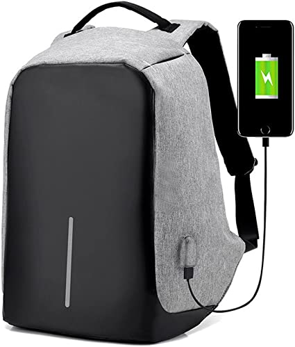 Anti Theft Business Waterproof Travel Laptop Backpack Bag with USB Charge Port