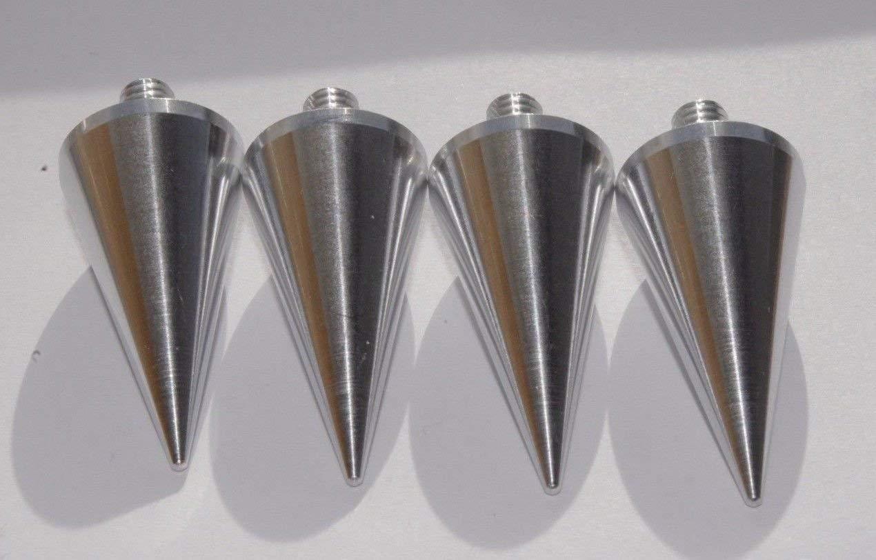 M8 Acero Inoxidable Puntas//Spikes de desacople para Altavoces Conjunto de Cuatro