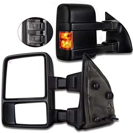 For 03-07 Ford F250 Super Duty Pair Side View Towing Mirrors Power Heated Signal