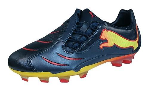 PUMA Powercat 2.10 FG Tricks Boys Leather Soccer Boots Cleats-Black-4.5 f62ada3fd45