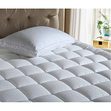 queen size cooling mattress pad Amazon.com: INGALIK Queen Size Mattress Pad Cover Cotton Deep  queen size cooling mattress pad