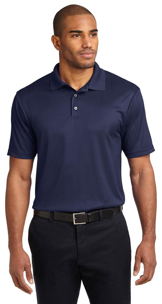 Port Authority Performance Fine Jacquard Sport Shirt, L, True Navy