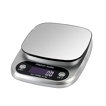 Báscula electrónica portátil, báscula de cocina digital de alta precisión, balanzas electrónicas de 1g
