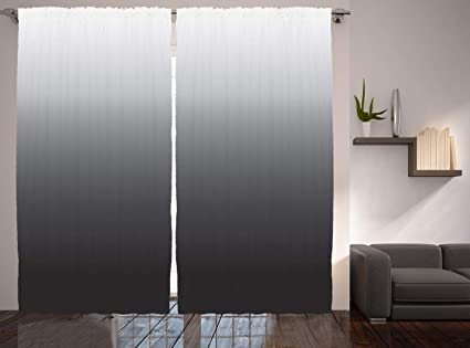 Amazon.com: Ambesonne Black Curtains Ombre Home Furnishings ...