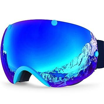 ZIONOR Lagopus XA Profesional de Motos de Nieve Snowboard Skate Gafas de esquí y Gran Angular