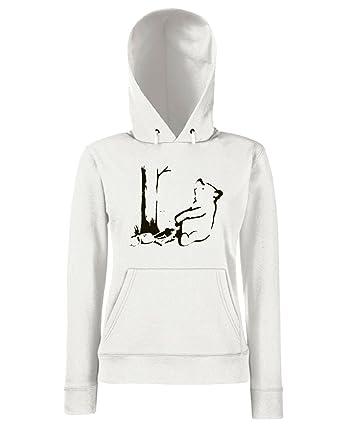 T-Shirtshock - Sudadera hoodie para las mujeras FUN0724 bear trap yel mens cu 5 1, Talla L: Amazon.es: Ropa y accesorios