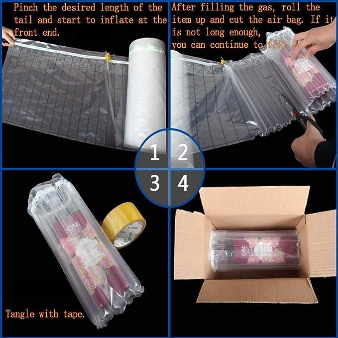 AIKASA Airbag Verpackung Luftkissen Luftkissen Verpackungsmaterial 50m Schaumstoff Verpackung Transport 35cmx50m