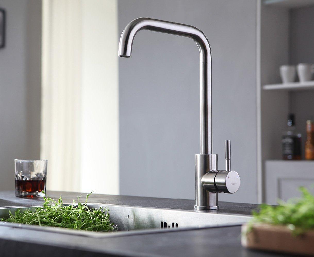 MICOE 360° Schwenkbar Küchenarmatur Edelstahl Matt Küche Wasserhahn ...
