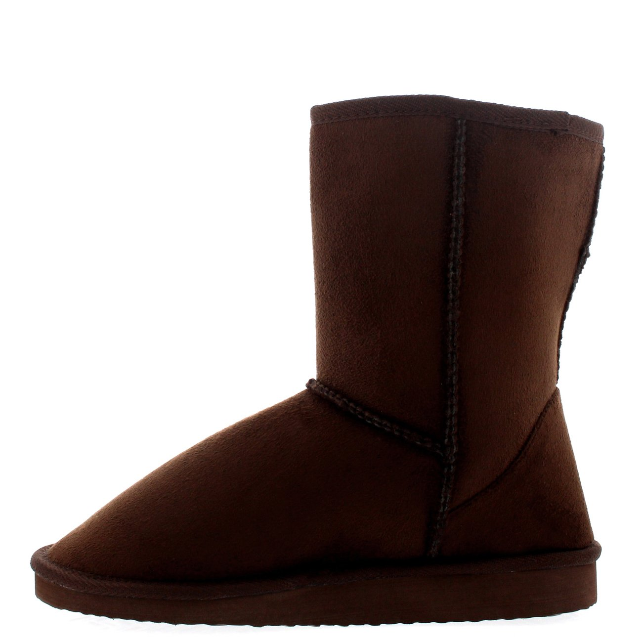 75d5b5bdff5 Womens Short Fashion Warm Hard Sole Winter Classic Flat Ankle Snow Boots:  Amazon.co.uk: Shoes & Bags