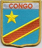 Congo People's Democratic Republic Flag Embroidered Patch (cy011)
