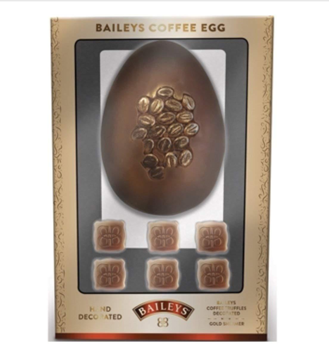 Huevo de chocolate con leche de Baileys con granos de café shimmer y cuadrados de café Baileys/Huevo de Pascua de lujo: Amazon.es: Alimentación y bebidas