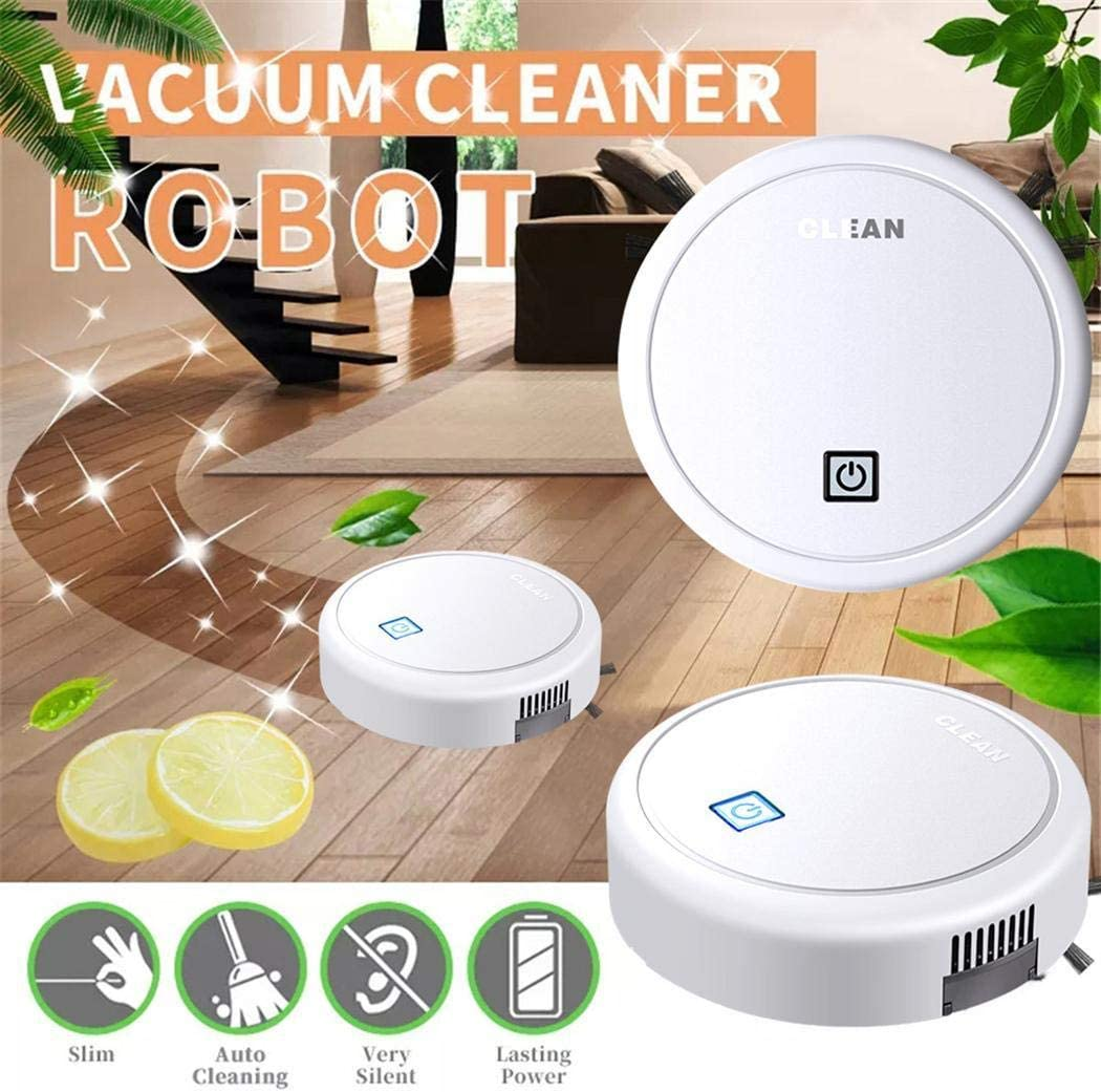 Hello22 Robot Vacuum Cleaner,Sweeping Robot Intelligent Home Automatic Scrub Floor Mopping Multi-Function,Cleans Medium-Pile Carpets+Pet Hair Robotic Vacuums