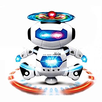 koly caminar electrnica de baile inteligente robot espacial del astronauta para nios juguetes de msica ligera
