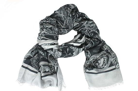 Versace - Echarpe - À Fleurs - Femme gris gris Taille unique  Amazon ... c68a7417d55
