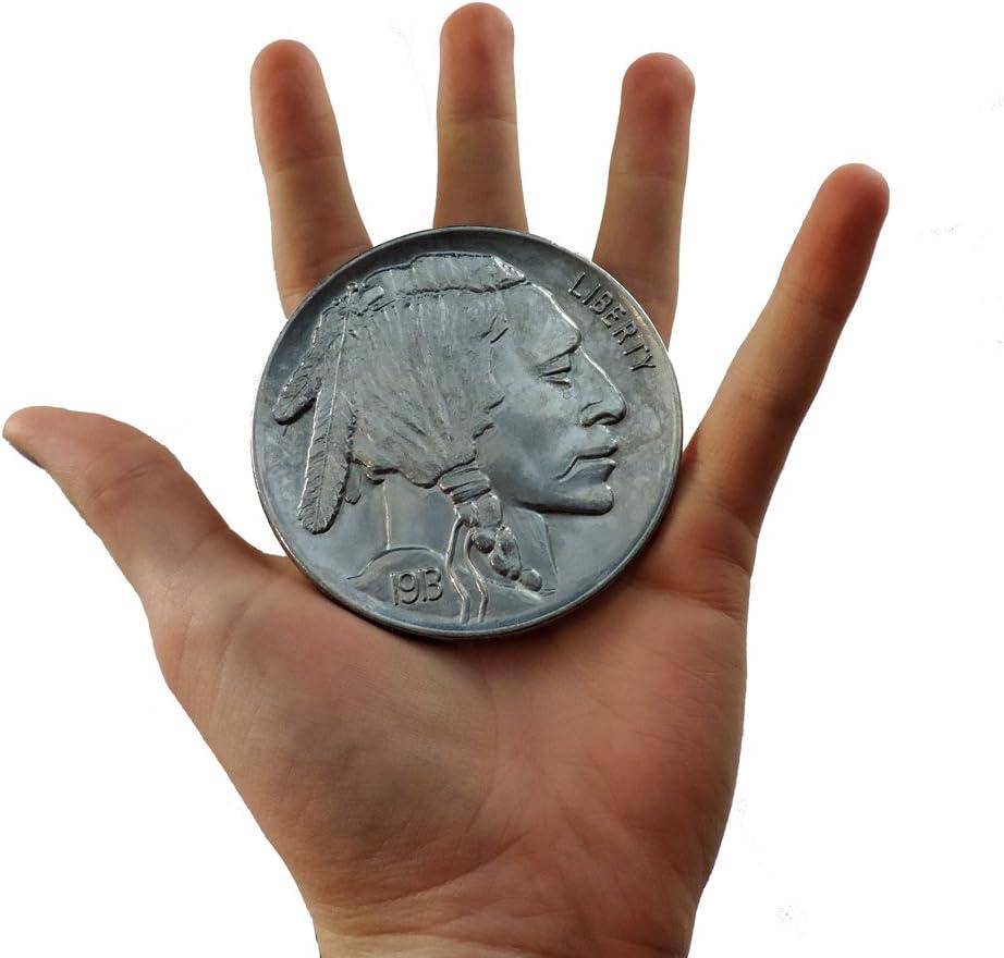 Giant Novelty Buffalo Indian Head Nickel Fake Jumbo Coin