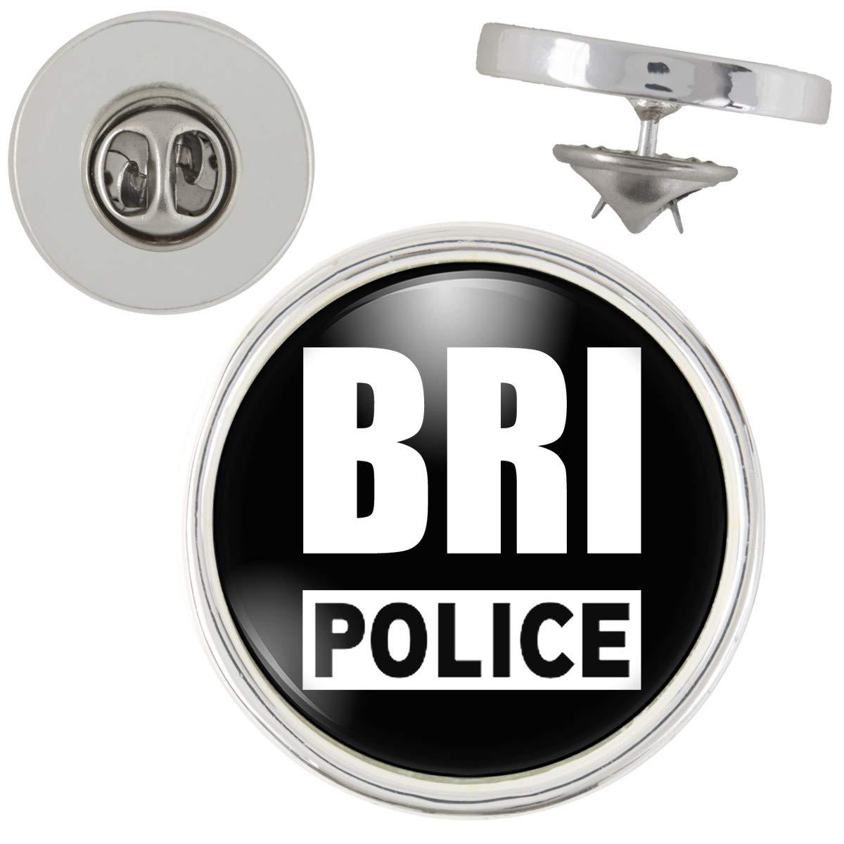 Pin's Police BRI Brigade Recherche Intervention 20mm Pins Bouton Epinglette Coloris Argent Générique GAMA_PINA-BRI1