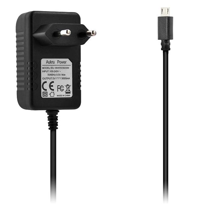 150 opinioni per Aukru Micro USB 5V 3000mA caricatore adattatore alimentazione per Raspberry Pi