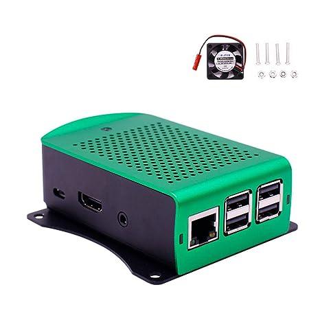 Amazon.com: Yahboom Raspberry Pi 3B/3B+ - Funda de aleación ...