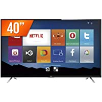 "Smart TV 40"" HD, TCL L40S4900FS, Preta"