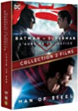 BATMAN VS SUPERMAN / MAN OF STEEL - Coffret 2 Films - DVD - DC COMICS