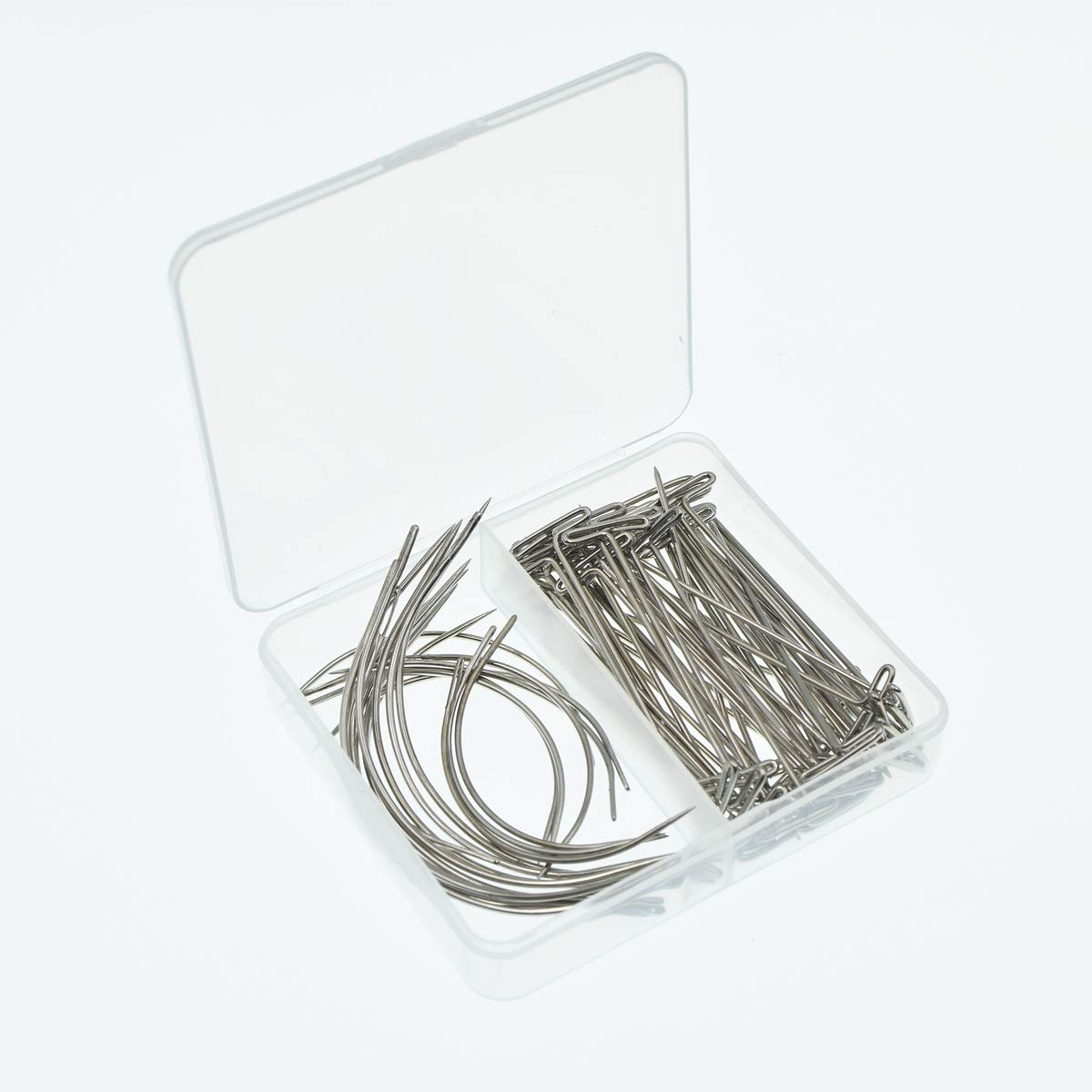 70 Pieces Wig Making Pins Needles Set Wig T Pins And C Type Curved