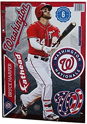 "MLB Washington Nationals Bryce Harper Fathead Teammate Wall Decal 8""x17"""