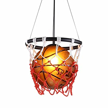 FHTD Retro Basketball Kronleuchter Einstellbare Höhe Deckenleuchte Taste  Schalter Kreative Persönlichkeit Restaurant Bar Tisch Stadion Shop